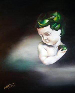 Oil and acrylic on canvas, 2011, Victoria Yin, USA